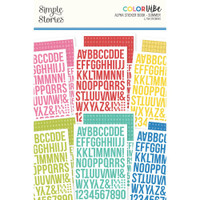 Carpe Diem - Simple Stories - A5 Sticker Book - Color Vibe Alpha - Summer