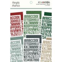 Carpe Diem - Simple Stories - A5 Sticker Book - Color Vibe Alpha - Winter