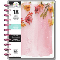 The Happy Planner - Me and My Big Ideas - Big Happy Planner - 2021-2022 Pressed Florals - 18 Months (Dated, Vertical)