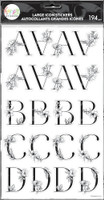 The Happy Planner - Me and My Big Ideas - Sophisticated Florals Black Alphabet Stickers