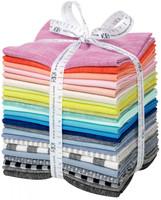 Robert Kaufman Fabric Precuts - Fat Quarter Bundle - Then Came June Basics Palette