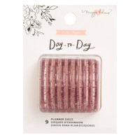 Maggie Holmes - Day-To-Day Planner Discs - Pink Glitter (Large)