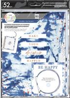 The Happy Planner - Me and My Big Ideas - Classic Planner Companion - Indigo Tie Dye