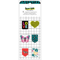 American Crafts - Amy Tangerine - Brave & Bold Magnetic Bookmarks