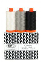 Aurifil - Color Builder 50wt Carrara Black/White - Set of 3