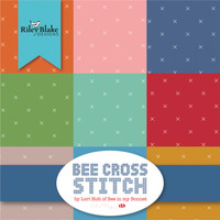 Riley Blake Fabric Layer Cake - Bee Cross Stitch by Lori Holt of Bee in My Bonnet