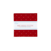 Riley Blake Fabrics - Charm Pack - Bee Cross Stitch by Lori Holt