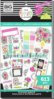 The Happy Planner - Me and My Big Ideas - Value Sticker Book - Colorful Florals (#613)