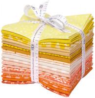 Robert Kaufman Fabric Precuts - Fat Quarter Bundle - Paintbox Sunshine by Elizabeth Hartman