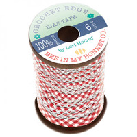 Riley Blake Designs - Lori Holt of Bee in my Bonnet - Crocheted Bias Tape - Red