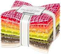 Robert Kaufman Fabric Precuts - Fat Quarter Bundle - Modern Classics Warm by Violet Craft