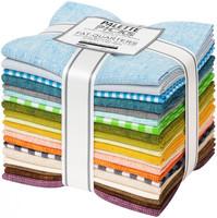 Robert Kaufman Fabric Precuts - Fat Quarter Bundle - Spring Shimmer Coordinates by Jennifer Sampou