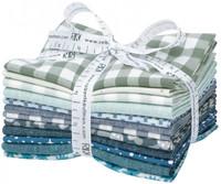 Robert Kaufman Fabric Precuts - Fat Quarter Bundle - Paintbox Winter by Elizabeth Hartman