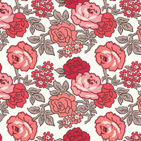 Riley Blake Fabric - Wide Backing - Flea Market by Lori Holt - Roses Red #WB10232R-RED