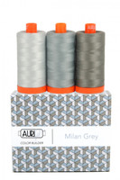 Aurifil - Color Builder 50wt Milan Grey - Set of 3