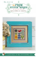 It's Sew Emma - Cross Stitch Pattern - Prim Series #9 - Welcoming & Cheerful