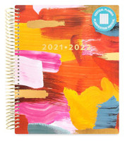 Recollections - 2020 - 2021 Abstract Brush Strokes Planner - 18 Months (Dated, Vertical)