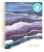 Recollections - 2021 - 2022 Blue Wave Planner - 18 Months (Dated, Vertical)