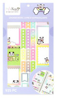 Craft Smith - Shine Sticker Studio - Sticker Book - Panda Rainbow