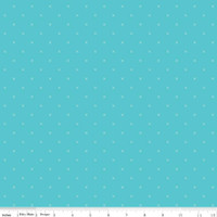 Riley Blake Fabric - Bee Cross Stitch - Lori Holt - Peacock #C745R-PEACOC