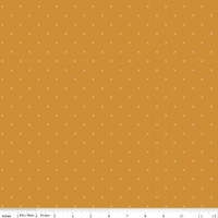 Riley Blake Fabric - Bee Cross Stitch - Lori Holt - Butterscotch #C745-BUTTERSCOTCH