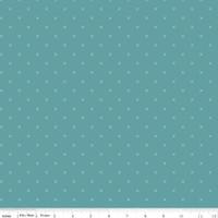 Riley Blake Fabric - Bee Cross Stitch - Lori Holt - Riley Teal #C745-RILEYTEAL