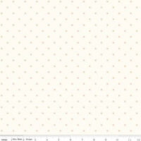 Riley Blake Fabric - Bee Cross Stitch - Lori Holt - Cloud Pumpkin #C747-PUMPKIN