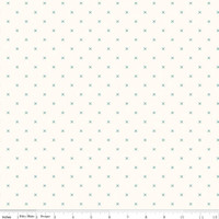 Riley Blake Fabric - Bee Cross Stitch - Lori Holt - Cloud Jade #C747-JADE
