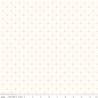 Riley Blake Fabric - Bee Cross Stitch - Lori Holt - Cloud Coral #C747-CORAL