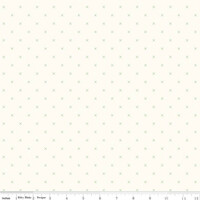 Riley Blake Fabric - Bee Cross Stitch - Lori Holt - Cloud Riley Green #C747-RILEYGREEN