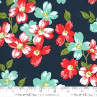 Moda Fabric - Sunday Stroll - Bonnie & Camille - Navy #55220 15