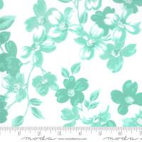 Moda Fabric - Sunday Stroll - Bonnie & Camille - White Aqua #55220 24