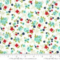 Moda Fabric - Sunday Stroll - Bonnie & Camille - White Aqua #55222 11