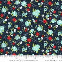 Moda Fabric - Sunday Stroll - Bonnie & Camille - Navy #55222 15