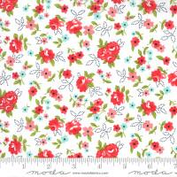 Moda Fabric - Sunday Stroll - Bonnie & Camille - White Red #55222 21