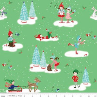 Riley Blake Fabric - Pixie Noel - Tasha Noel - Green #5250