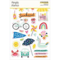 Carpe Diem - Simple Stories - A5 Sticker Book - Sunkissed