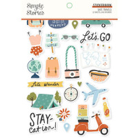 Carpe Diem - Simple Stories - A5 Sticker Book - Safe Travels