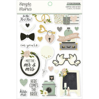 Carpe Diem - Simple Stories - A5 Sticker Book - Happily Ever After