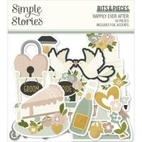 Carpe Diem - Simple Stories - Happily Ever After Bits & Pieces Die-Cuts