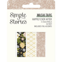 Carpe Diem - Simple Stories - Happily Ever After Washi Tape - Set of 3