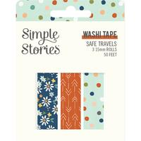 Carpe Diem - Simple Stories - Safe Travels Washi Tape - Set of 3