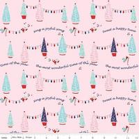 Riley Blake Fabric - Pixie Noel - Tasha Noel - Pink #5251