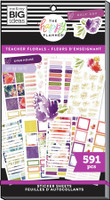 The Happy Planner - Me and My Big Ideas - Value Pack Stickers - Teacher - Florals (#591)