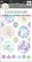 The Happy Planner - Me and My Big Ideas - Pastel Tie Dye - 5 Sticker Sheets
