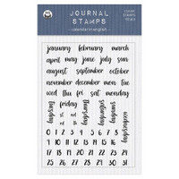 P13 - Journal Clear Stamps - Calendar