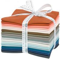Robert Kaufman Fabric Precuts - Fat Quarter Bundle - Kona Solids - Driftless by Anna Graham
