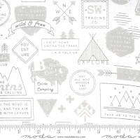 Moda Fabric - Smoke & Rust - Lella Boutique - Ash Mountain Badge #5130 11