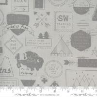 Moda Fabric - Smoke & Rust - Lella Boutique - Smoke Mountain Badge #5130 13