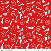 Riley Blake Fabric - Pixie Noel - Tasha Noel - Red #5253